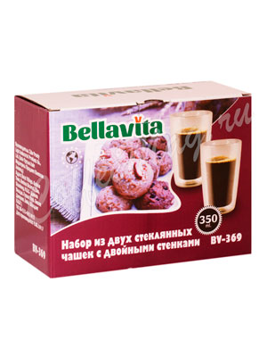 Набор из двух чашек Bellavita с двойными стенками 350 мл BV-369