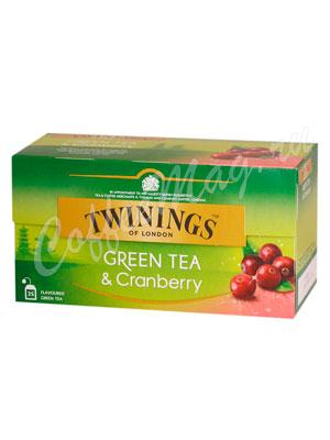Чай Twinings Зеленый Клюква (25 пакетиков)