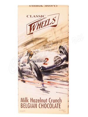Шоколад Belgian Classic Wheels молочный шоколад с дробленым фундуком 100 гр