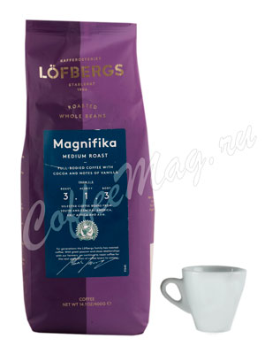 Кофе Lofbergs Lila в зернах Magnifica 400 г