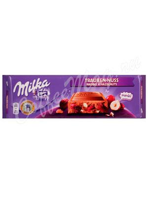 Шоколад Milka Raisins hazelnuts 270 гр