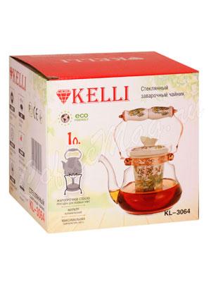 Чайник стеклянный Kelly KL-3064 1 л