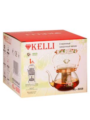 Чайник стеклянный Kelly KL-3058 1 л