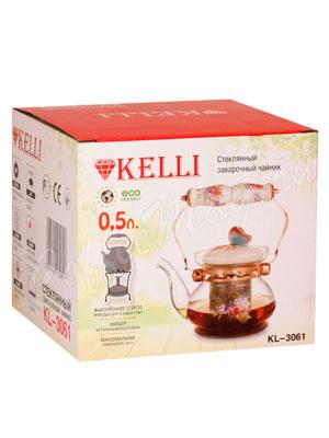 Чайник стеклянный Kelly KL-3061 0.5 л