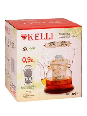 Чайник стеклянный Kelly KL-3063 0.9 л