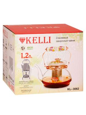 Чайник стеклянный Kelly KL-3062 1.2 л