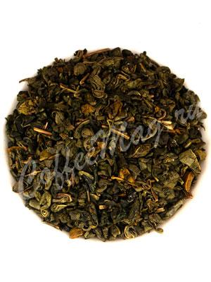 Зеленый чай Ганпаудер жасминовый
