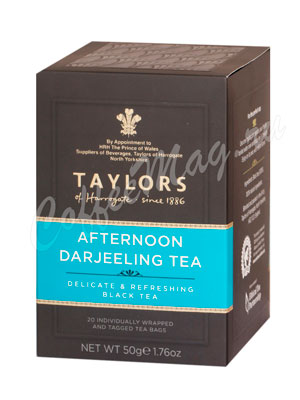 Чай Taylors of Harrogate пакетированный Afternoon Darjeeling Дарджилинг Полдник 20 шт