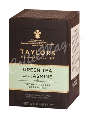 Чай Taylors of Harrogate пакетированный Green Jasmine Зеленый чай с цветками жасмина 20 шт