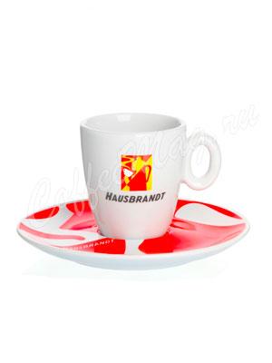 Чашка Hausbrandt эспрессо Красное блюдце