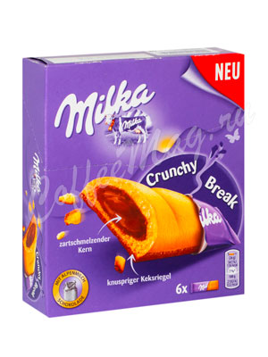 Бисквит Milka Crunchy Break (белые) 156 гр
