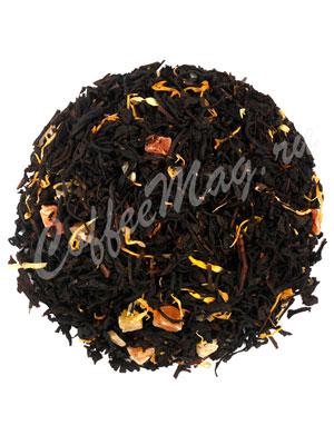 Черный чай с айвой и персиком