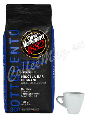 Кофе Vergnano в зернах Espresso Crema 800 1кг