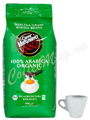 Кофе Vergnano в зернах Bio Organic 1кг