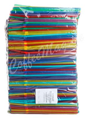 Трубочки со сгибом Prohotel L=21см D=0.5 разноцветные