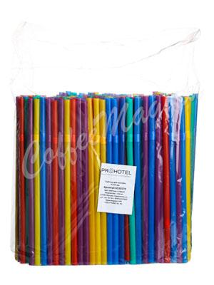 Трубочки со сгибом Prohotel L=24см D=0.8 разноцветные