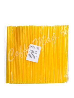 Трубочки без изгиба Prohotel L=24см D=0.8  желтые