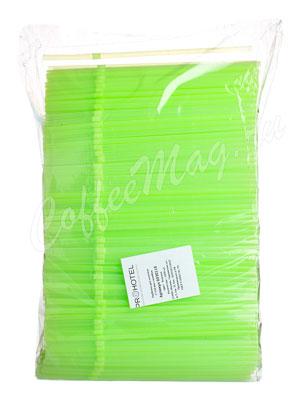 Трубочки со сгибом неоновые L=21см D=0.5 зеленые