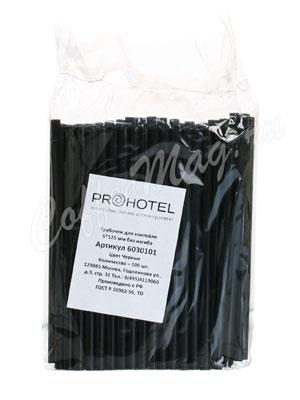 Трубочки без изгиба Prohotel L=12,5см D=0.5 черные