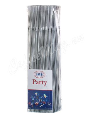 Трубочки со сгибом Party IMS L=24см D=0.5 черно-белые
