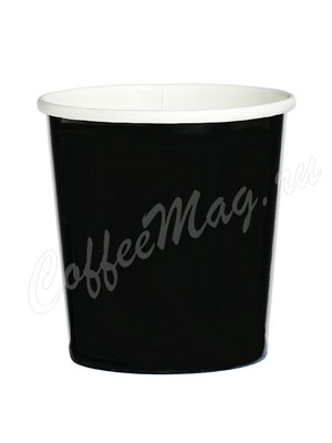 Бумажный контейнер с круглам дном 500 мл черный