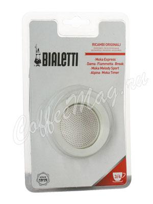 Bialetti 3 уплотнителя + 1 фильтр для гейзера 3-4 порции