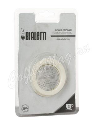 Bialetti 3 уплотнителя + 1 фильтр для гейзера Moka Индукционный 3 порции