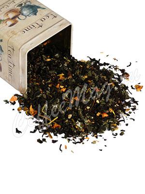 Черный чай Облепиха с имбирем