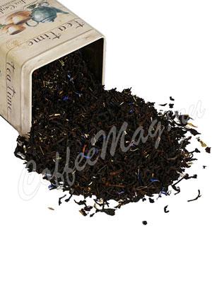 Черный чай с чабрецом и васильком