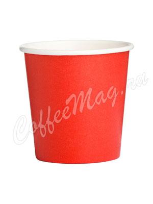 Стакан бумажный однослойный 100 мл красный