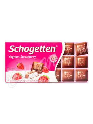 Шоколад Schogetten Yoghurt-Strawberry 100 гр