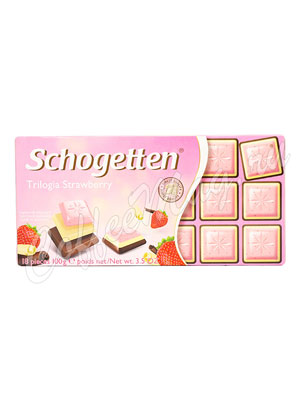 Шоколад Schogetten Trilogia Strawberry 100 гр