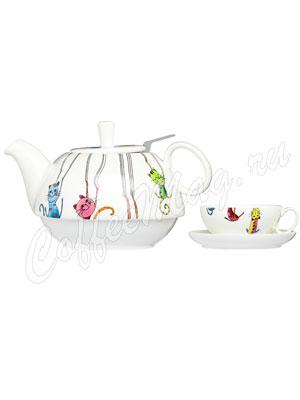 Чайный набор Паркур на 1 персон (Чашка 250 мл и чайник 450 мл)