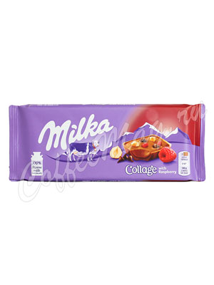 Шоколад Milka Collage Raspberry 93 г