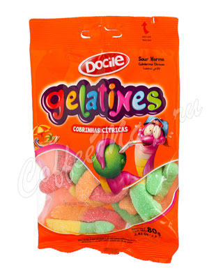 Мармелад Docile Gelatines Червячки со вкусом ягод и фруктов 80 гр