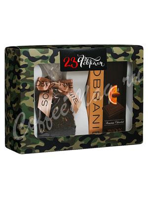 Подарочный набор Sobranie горький шоколад с апельсином и Чай черный листовой с бергамотом