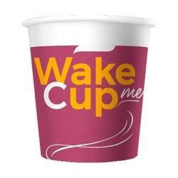 Стакан бумажный одноразовый 100 мл. WAKE ME CUP