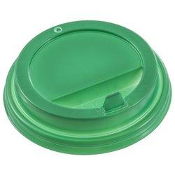 Крышка для бумажных стаканов D 90 мм, зеленая с клапаном