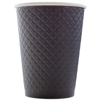 Стакан Формация Waffle Black двухслойный 300 мл