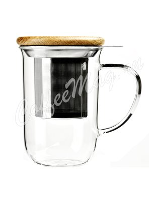 VIVA MINIMA Чайная кружка с ситечком 0,5 л (V71400) Прозрачное стекло