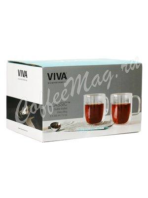 VIVA CLASSIC Термокружка (комплект 2шт) 0,35 л (V75100) Прозрачное стекло