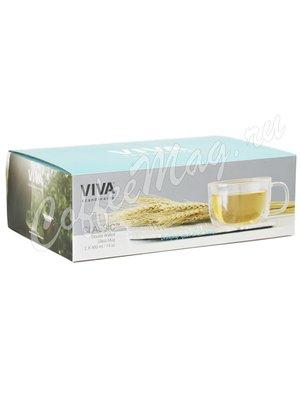 VIVA CLASSIC Термокружка (комплект 2 шт) 0,4 л (V75200) Прозрачное стекло