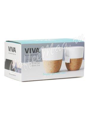 VIVA LAUREN Чайный стакан (комплект 2шт) 0,15 л (V79102) Белый
