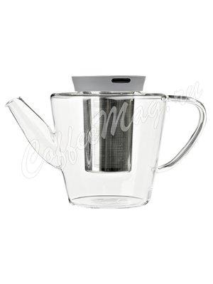 VIVA INFUSION Чайник заварочный с ситечком 1 л (V27833) Прозрачное стекло с серой крышкой