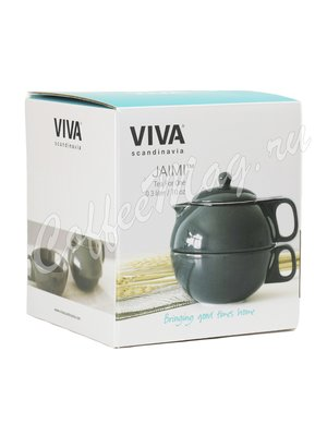 VIVA JAIMI Чайный набор на одну персону 0.3 л (V79939) Темно-зеленый