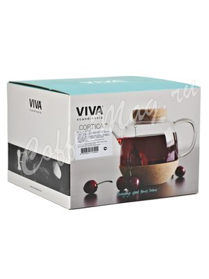 VIVA Cortica Чайник заварочный с ситечком 0.8 л (V71300) Прозрачное стекло