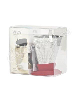 VIVA INFUSION Ситечко для заваривания чая (V29125) красный