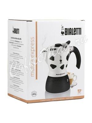 Гейзерная кофеварка Bialetti Mukka Express для капучино (на 2 чашки по 220 мл) Пятнистая (3418)