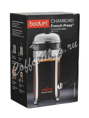 Френч-пресс Bodum Chambord хром 1л (1928-16)