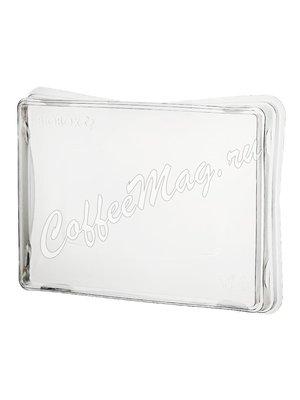 Бумажный контейнер с плоской пластиковой крышкой Crystal Box, Крафт 400мл 100*140*45 (50шт)